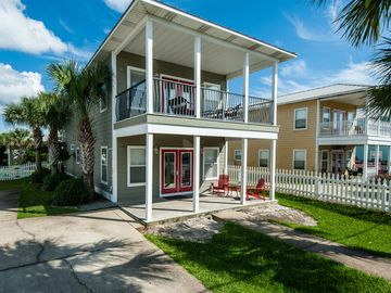 Crystal Beach house rental - Welcome to Sirenia! Nicely remodeled home and carriage house mere steps to beach