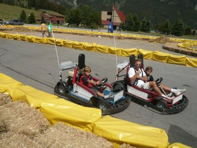 Go Carting is one of the many activities in the Village of Copper during summer.