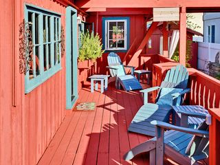 Santa Cruz house photo - Always a Sunny Spot on the Ocean View Deck, Shade Too!