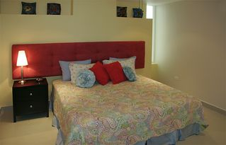 Cozumel condo photo - Great second bedroom that makes to a single king bed or 2 twins