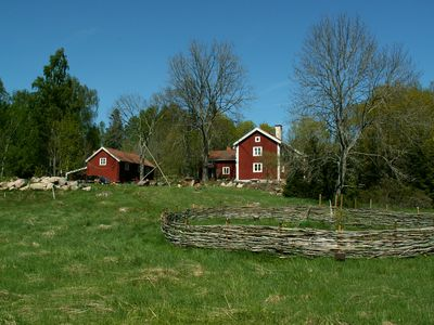 Traditional Swedish log cabin for 5 people, renovated