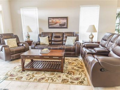 pread out and relax in the living room - Wonderfully soft and roomy sofas, plush carpet underfoot, a large HDTV, free wireless web access, and of course, a balcony with beautiful views right outside your window: The living room is practically perfect!