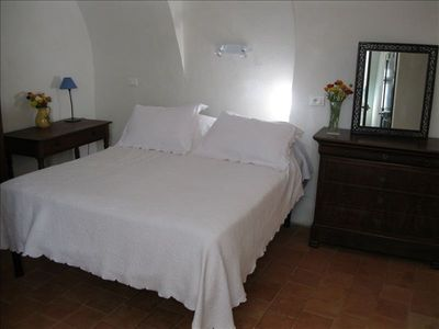 Airole villa rental - Master Bedroom, Queen Sized Bed, Bureau