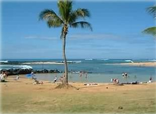 Poipu Beach Park - protected shallow cove for families