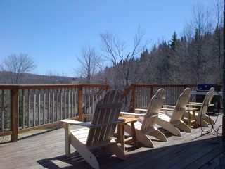 West Dover house photo - 4 new deck chairs to soak in the sun and view!