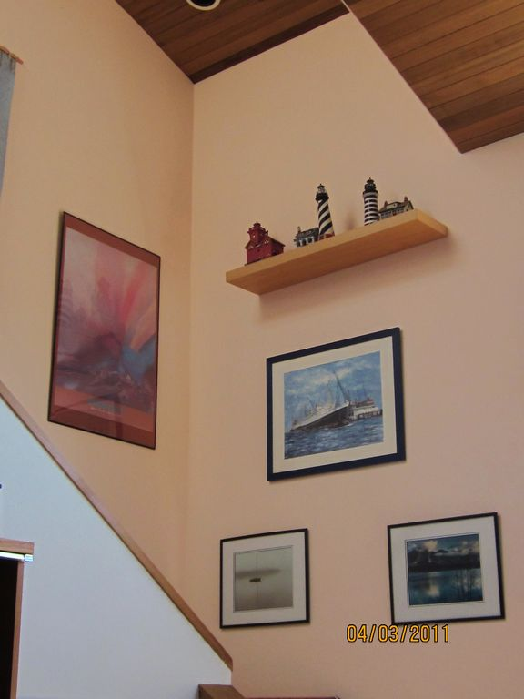 More lighthouses and red cedar ceiling