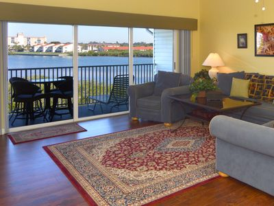 Living Room with unobstructed water views. Dolphin watchers' rejoice!