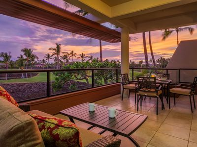 Spacious lanai with amazing views