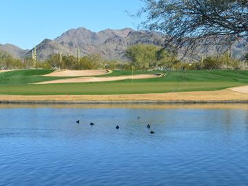 Other Scottsdale Properties townhome rental - Looking at the 18th green from the restaurant patio