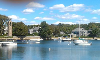 looking across harbor toward our house