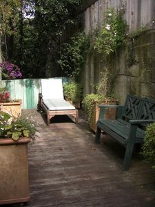 San Francisco cottage rental - Private sunny patio