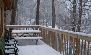 Gatlinburg chalet photo - An impromptu snow storm dumped about 10 inches on our cabin in January 2011.