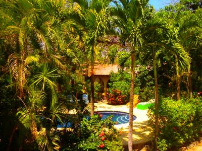 Casita Rear Lanai, Lovely Grounds. Abundant Exotic Trees & Flowers Buffer Units