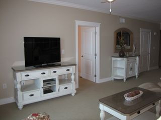 Fort Walton Beach condo photo - Living area wth 46' Vizio 3D LED HDTV and Sony Blu-ray player.