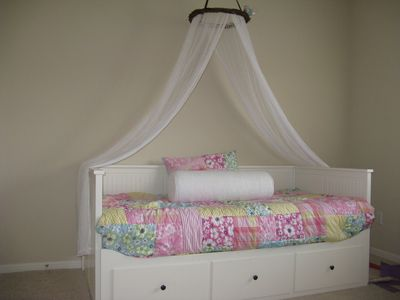 Trundle Bed can be pulled out to a queen size bed