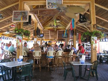 Interior of TIKI bar on the beach
