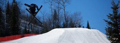 The region's best terrain park for the snow boarders in your group