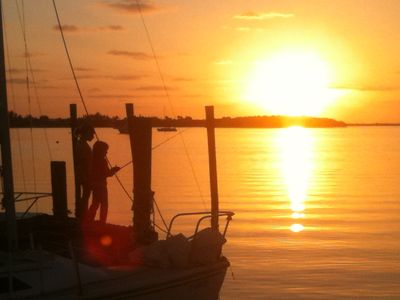 Go fishing right on our docks and enjoy the sunset...