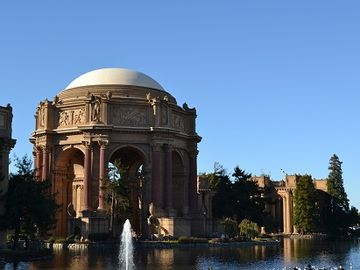 Palace of Fine Arts in the marina district.