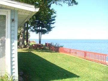 Wilson cottage rental - Beautiful backyard with firepit area
