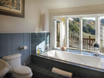 Soaking tub for two.  Artist's View