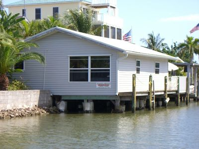 Fort Myers Beach cottage rental - View coming to cottage from the Bay.