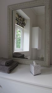 Antique french mirror in 3rd bedroom