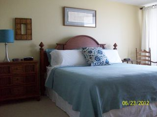 Cherry Grove Beach condo photo - Master Bedroom with access to the balcony and overlooking the beach