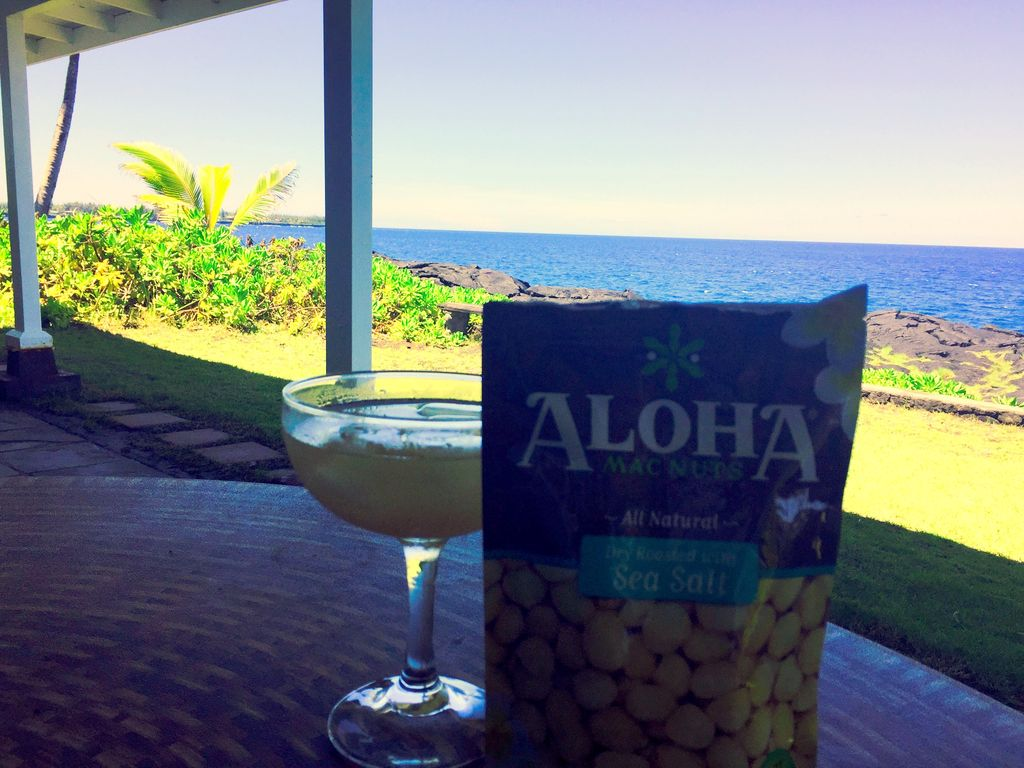 Macadamia nuts and a margarita - very relaxing!
