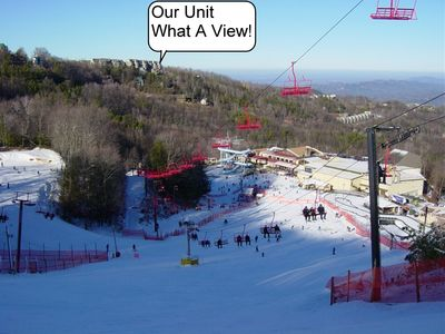 Come enjoy and watch the winter fun from the best view in the Smokies