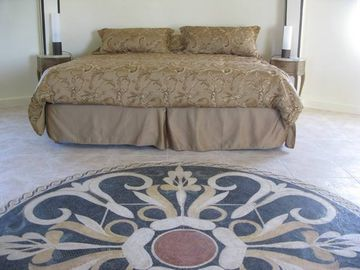 Master Bedroom with Mosaic Imported from Syria
