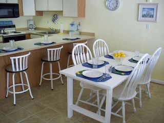 Royal Hawaiian Ocean City condo photo - Kitchen, dining area with new ceramic tile floor