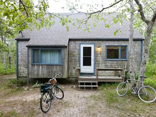 Chappaquiddick cottage photo - Chappy Cottage: front view (bikes not included in rental)