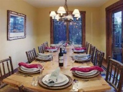 Dining for twelve is ideal for large families