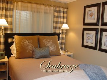 Folly Field villa rental - Hilton Head Condo - Luxury queen size bed with upgraded linens.