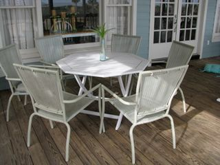 Isle of Palms house photo - Dine on the deck 2 tables that seat 6 each