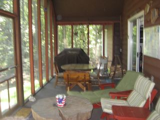 Lake Wallenpaupack house photo - Another view of the porch with the barbecue