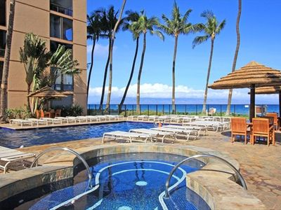 Beach Side Pool and Jetted Hot Tub  Enjoy a swim in the ocean or the Mahana's private oceanside pool