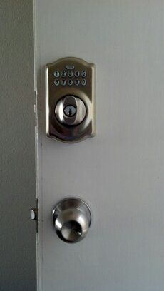 Front door entry lock