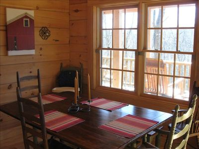 Brevard cabin rental - Dining Area with view