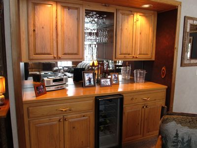 Bar off main FR with wine cooler