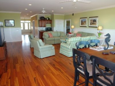 Holden Beach house rental - Game room with 72' HDTV and surround sound