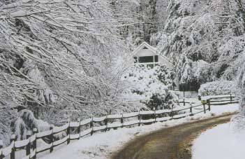 Maggie Valley cabin rental - Winter in the Smokies
