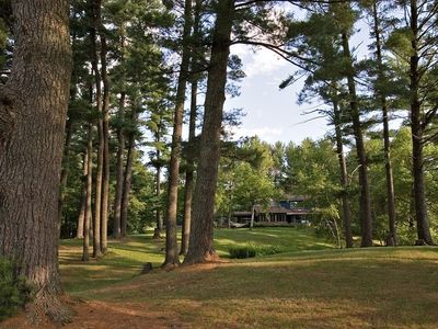Gorgeous, private grounds with super-tall pines