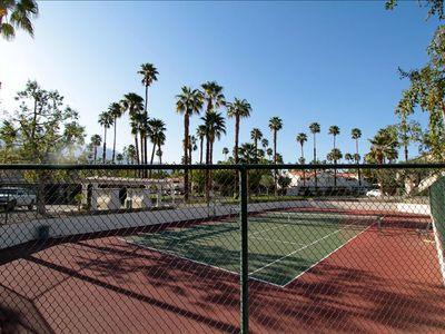 If tennis is your game you have access to a great court right outside your door