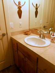 Moab townhome photo - Second bedroom bathroom with separate shower/ bath and loo. Finished in tile.