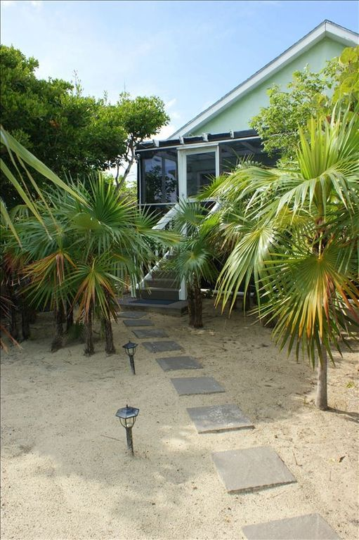 Beach side entrance to the cottage