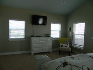 Mexico Beach house photo - King Master #1 sitting area and nice size tv with dvd player, private deck