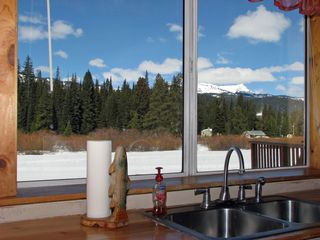 West Yellowstone house photo - View from the kitchen window!