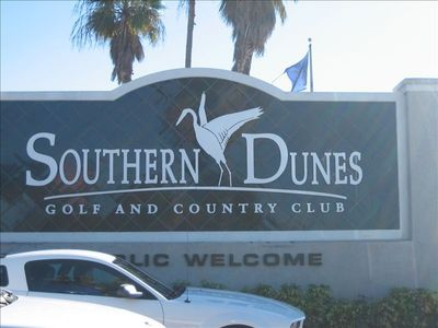 We're located in the Beautiful Southern Dunes Golf Course Community.